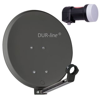 DUR-line 40cm HD Sat Anlage Digital Single LNB 1...