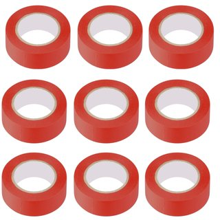 10 Stück Isolierband Rot 10 m / 19 mm breit Isoband...