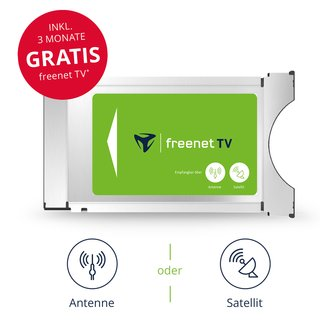 Freenet TV HD CI+ Modul für DVB-T2 Antenne & Satellit HD...