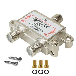 Digitale BK UniCable SAT 2-Fach Splitter 5-2500MHz HD 4K...