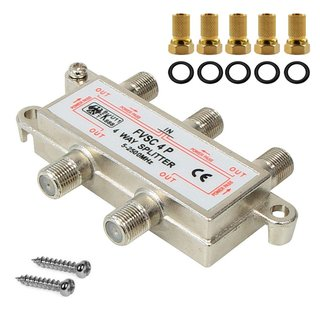 Digitale BK UniCable SAT 4-Fach Splitter 5-2500MHz HD 4K...