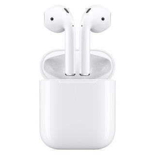 Apple AirPods 2. Generation MV7N2ZM/A mit Ladecase...