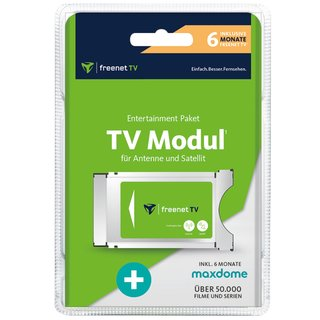 Freenet TV HD CI+ Modul für DVB-T2 HD & Satellit HD 6...