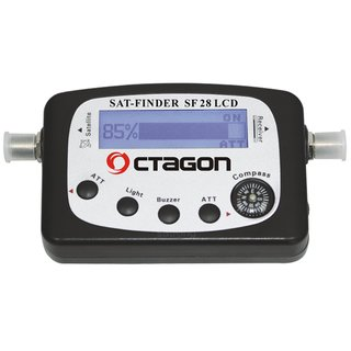Octagon SF 28 Digital LCD Satfinder mit Kompass und Ton FULL U-HD 4K